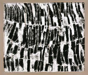 »Gestaffelt«, Wellpappe-Druck, 50 x 60 cm