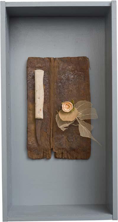 »Eine Rose war eine Rose war eine...«, Fundstücke, 38 x 20 cm