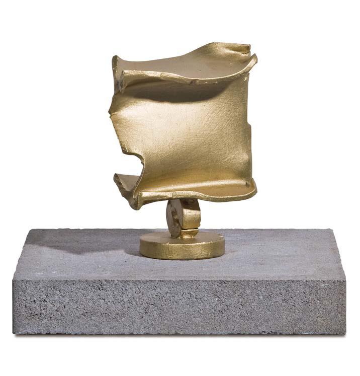 »Goldstück«, Eisen, Goldfarbe, H:18,5 cm