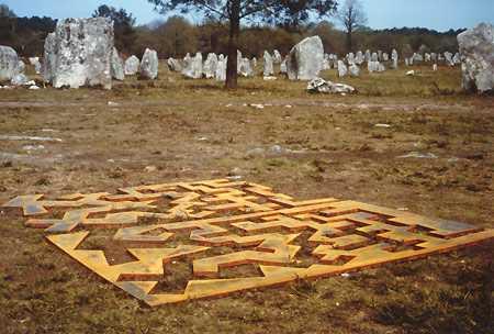 «Labyrinth», skulptur Carnac, Teilansicht