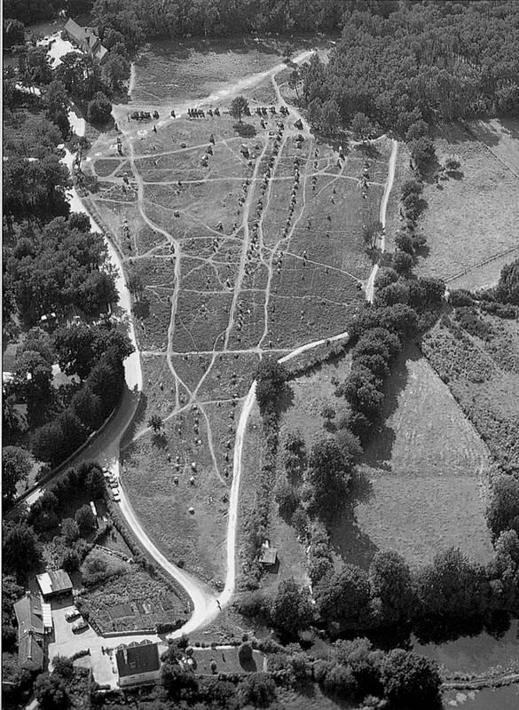 »Megalithfeld von Kerlescan/Carnac«, Frankreich, Postkarte