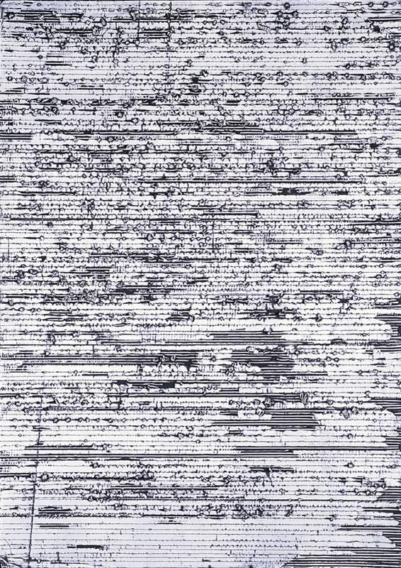 »Schriftlich, weiß«, Wellpappe, Farbe, 165 x 118 cm