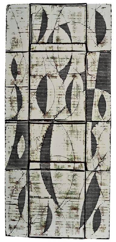 »Kapseln, altweiß«, Wellpappe, Farbe, 150 x 86 cm