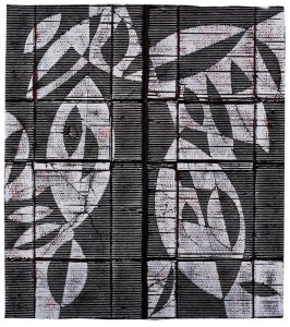 »Angedockt«, Wellpappe, Farbe, 130 x 113 cm