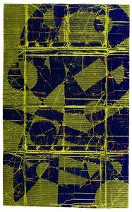 »Raumschiff«, Wellpappe, Farbe, 140 x 88 cm