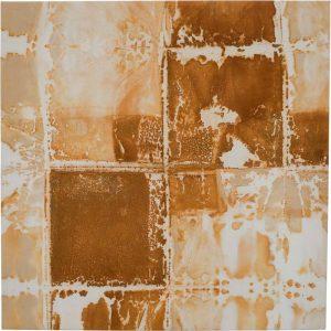 »Geklappt«, Eisen auf Tuch, 70 x 70 cm
