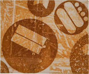 »Turin 6«, Eisen auf Tuch, 50 x 60 cm