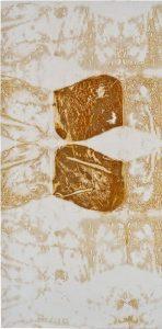 »Turin 1«, Eisen auf Tuch, 150 x 70 cm
