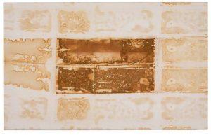 »Rembrandt«, Eisen auf Tuch, 50 x 80 cm