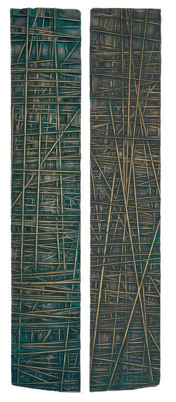 »Gesägt, negativ«, Bronze, H: 92 cm